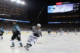 Los Angeles' Marian Gaborik silences Levi's Stadium with his game-winning goal at 4:04 of the third period against the Sharks.