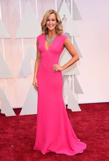 TV personality Lara Spencer attends the 87th Annual Academy Awards at Hollywood & Highland Center on