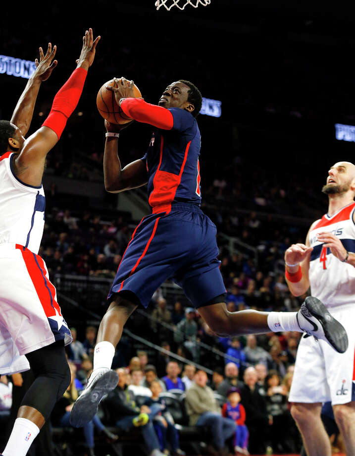 Reggie Jackson got his Pistons career off the ground with 17 points and five assists in his debut. Photo: Paul Sancya / Associated Press / AP