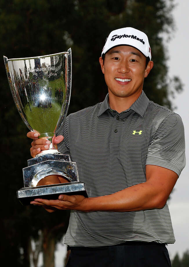 Former Cal player James Hahn beat Dustin Johnson on the third hole of a playoff. Photo: Todd Warshaw / Getty Images / 2015 Getty Images