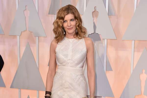 Rene Russo arrives at the Oscars on Sunday, Feb. 22, 2015, at the Dolby Theatre in Los Angeles. (Photo by Jordan Strauss/Invision/AP)