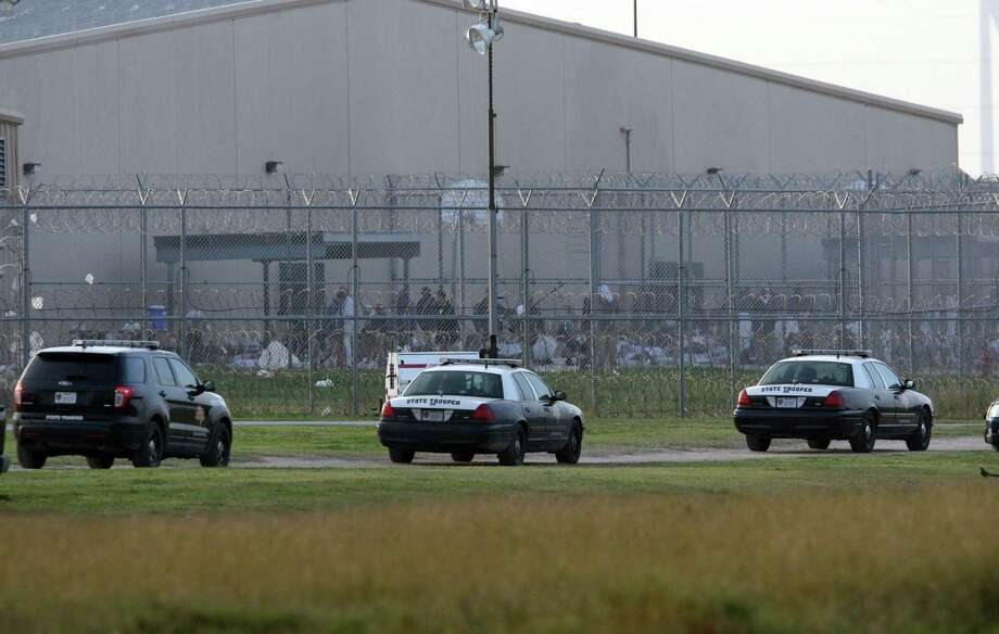 During the riot, authorities from a variety of agencies converged on the Willacy County Correctional Center. Photo: Associated Press /File Photo / Delcia Lopez photography