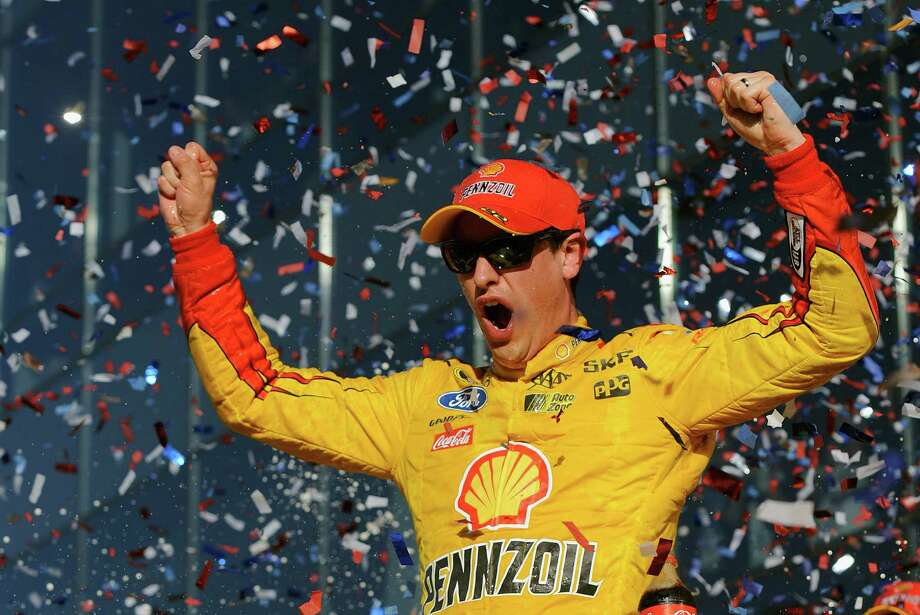Joey Logano basks in the biggest victory of his up-and-down career. Photo: Jared C. Tilton, Stringer / 2015 Getty Images
