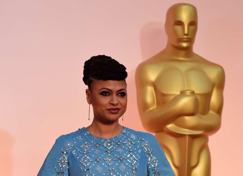 "Ava DuVernay, director of the film ""Selma,"" poses on the red carpet for the 87th Oscars in Hollywood. Photo: MARK RALSTON / AFP / Getty Images / AFP"