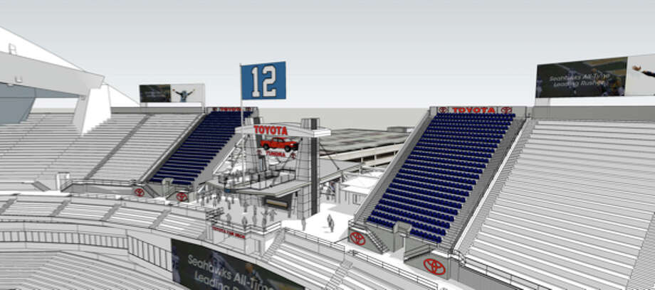 On Feb. 23, 2015, the Seahawks announced adding 1,000 seats in two new sections in the south upper deck. The renovations include a new 12th Man Flag platform. Photo: Seattle Seahawks