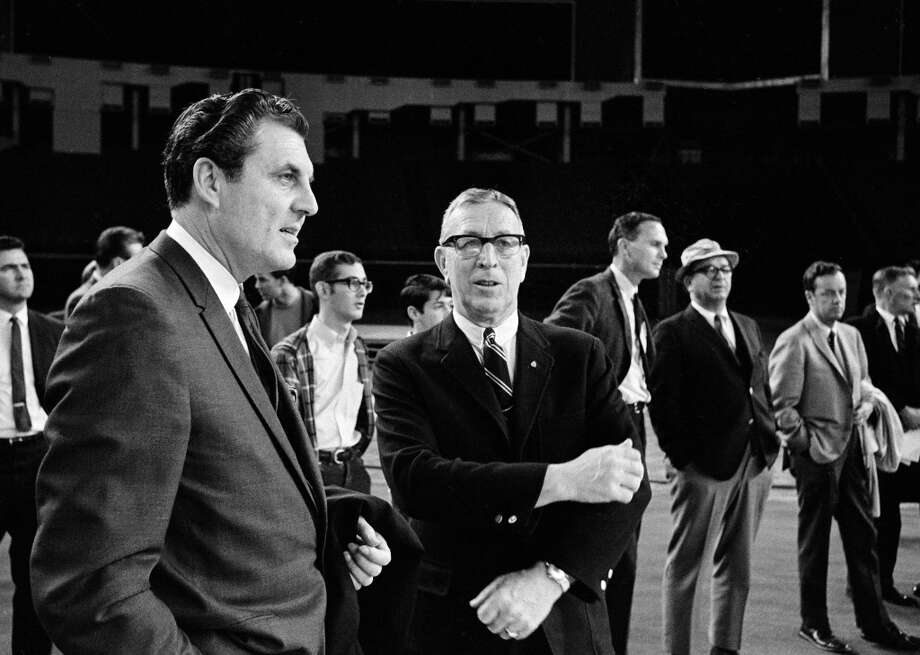 University Of Houston Head Basketball Coach Guy Lewis Left And Photo 7564484 103808