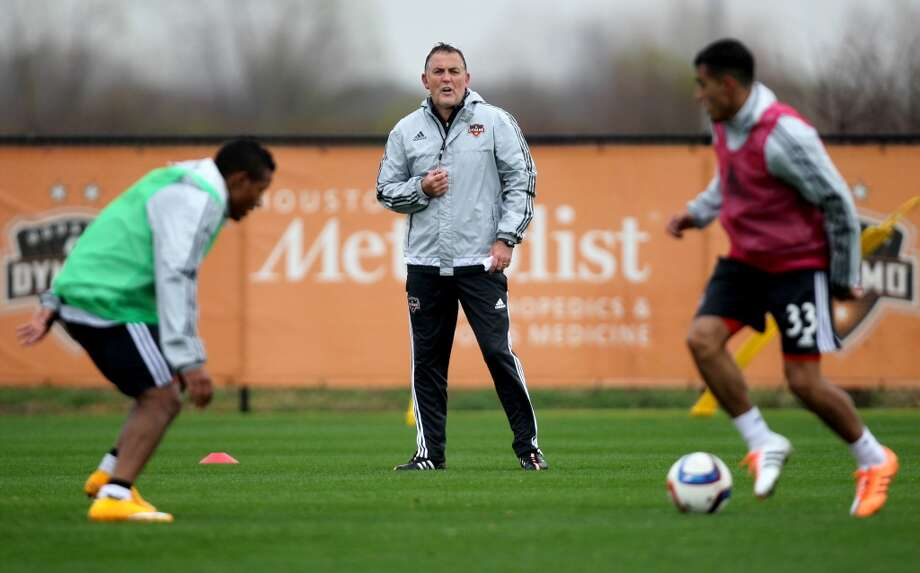 Owen Coyle, head coach of the Houston Dynamo, during practice at the Houston Sports Park Monday, Feb. 16, 2015, in Houston, Texas. ( Gary Coronado / Houston Chronicle ) Photo: Houston Chronicle