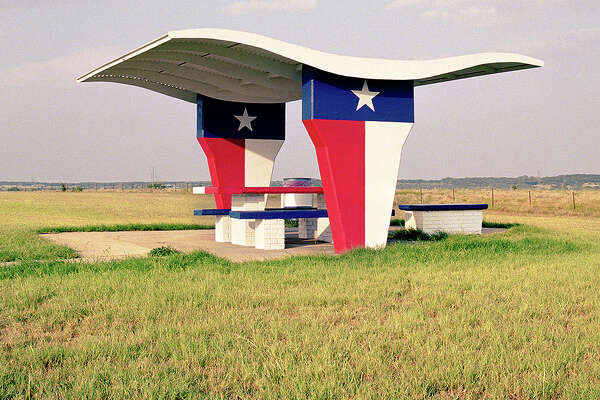 "Flower Mound, Texas, I-35W. From ""The Last Stop: Vanishing Relics of the American Roadside."""