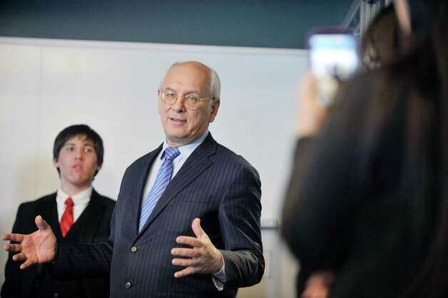 Congressman Paul Tonko talks about education policies with students and faculty at Tech Valley High School on Monday, Feb. 23, 2015, in Albany, N.Y.  (Paul Buckowski / Times Union) Photo: PAUL BUCKOWSKI / 00030720A