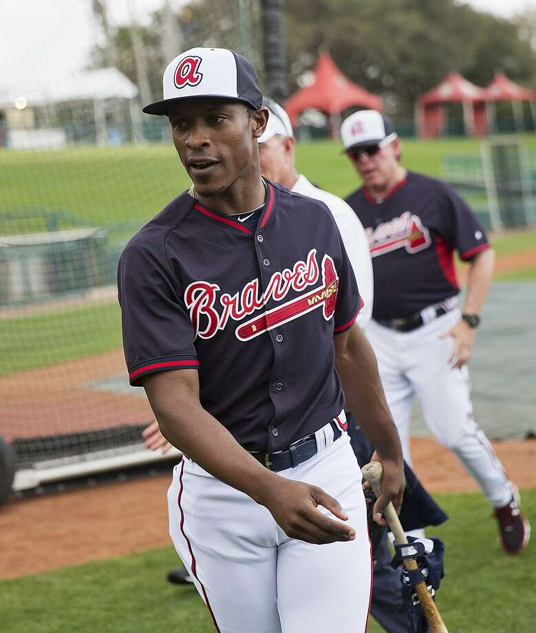 The Atlanta Braves' B.J. Upton Jr. is the latest athlete to change his name, although he didn't require any legal paperwrk. Upton will now be referred to by his real first name, Melvin. Photo: David Goldman, Associated Press