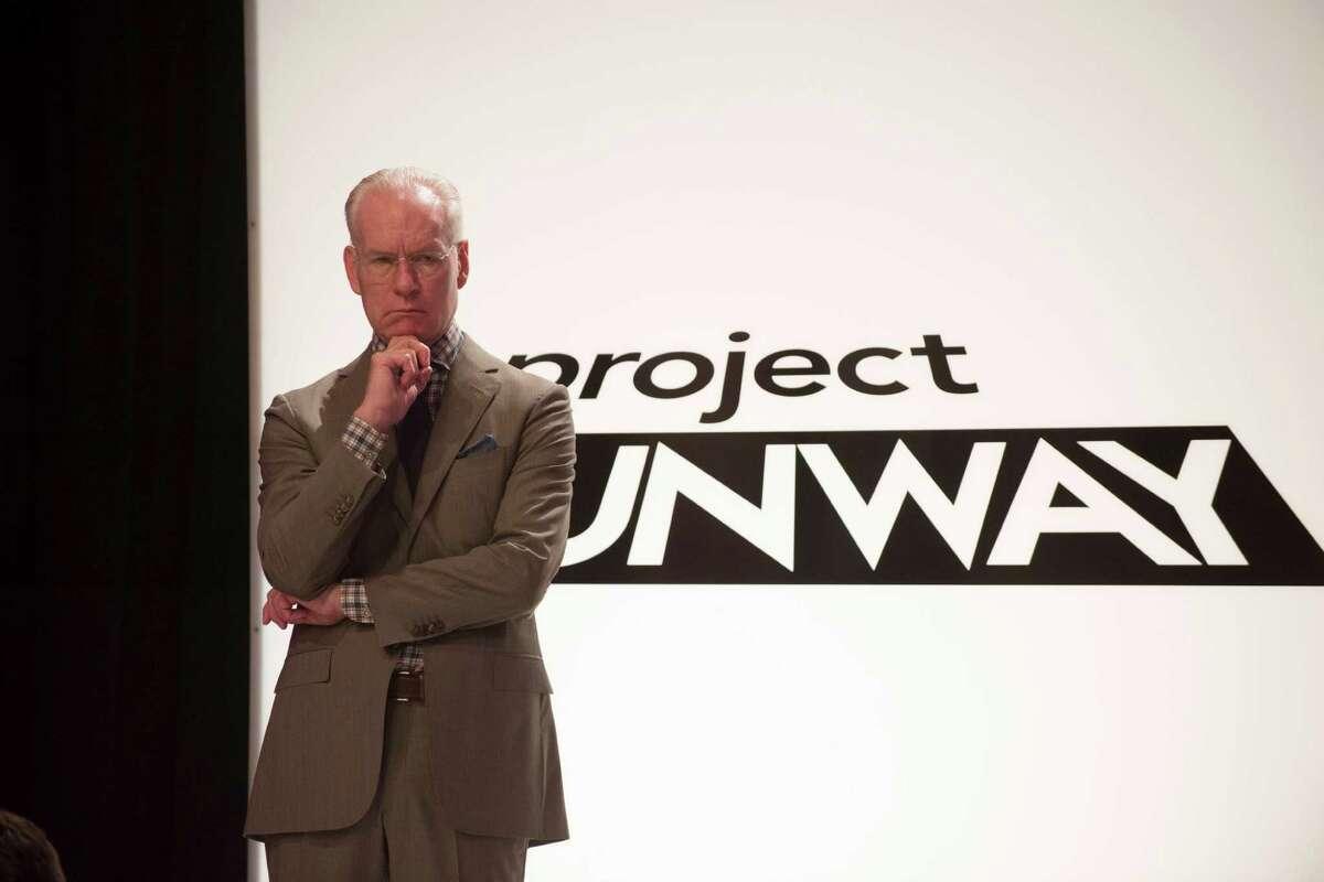 "Tim Gunn in a contemplative mood on last season's ""Project Runway."""