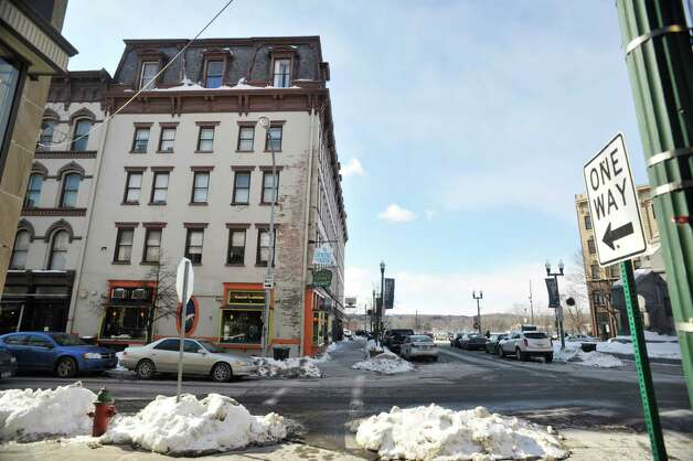 A view of the Cannon Building, on left, in downtown Troy, on Monday, Feb. 23, 2015, in Troy, N.Y.    (Paul Buckowski / Times Union) Photo: PAUL BUCKOWSKI / 00030724A