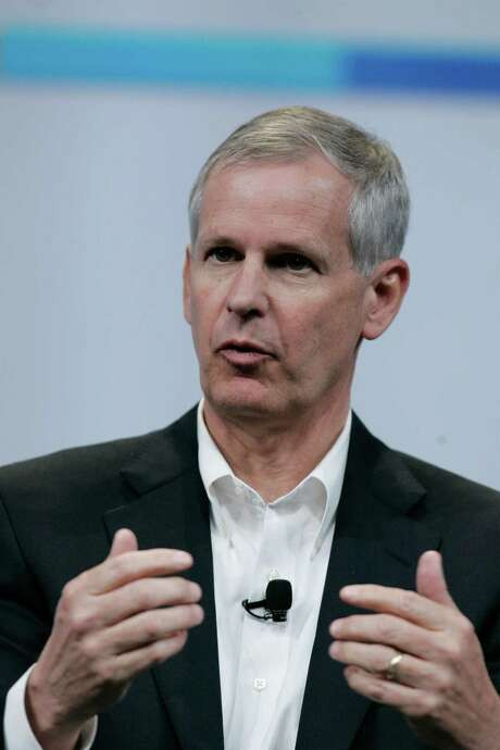 In this Thursday, May 20, 2010 photo, Dish Network CEO Charles Ergen speaks at the Google conference in San Francisco. Dish Network said Monday, Feb. 23, 2015, that President and CEO Joseph Clayton will be stepping down on March 31. Co-founder and Chairman Ergen, who previously served as CEO and president, will take over again. Clayton, who has been CEO since June 2011, will also retire from the board. (AP Photo/Paul Sakuma) Photo: Paul Sakuma, STF / AP