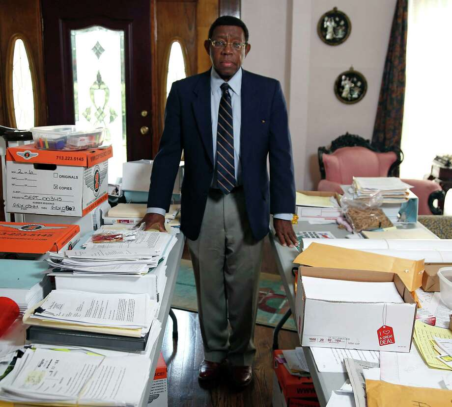 Earnest Gibson III former CEO of Riverside General Hospital Thursday, Feb. 12, 2015, in Houston. Gibson and 10 others were indicted 2012 for their alleged roles in a $150 million Medicare fraud scheme.  ( James Nielsen / Houston Chronicle ) Photo: James Nielsen, Staff / © 2015  Houston Chronicle