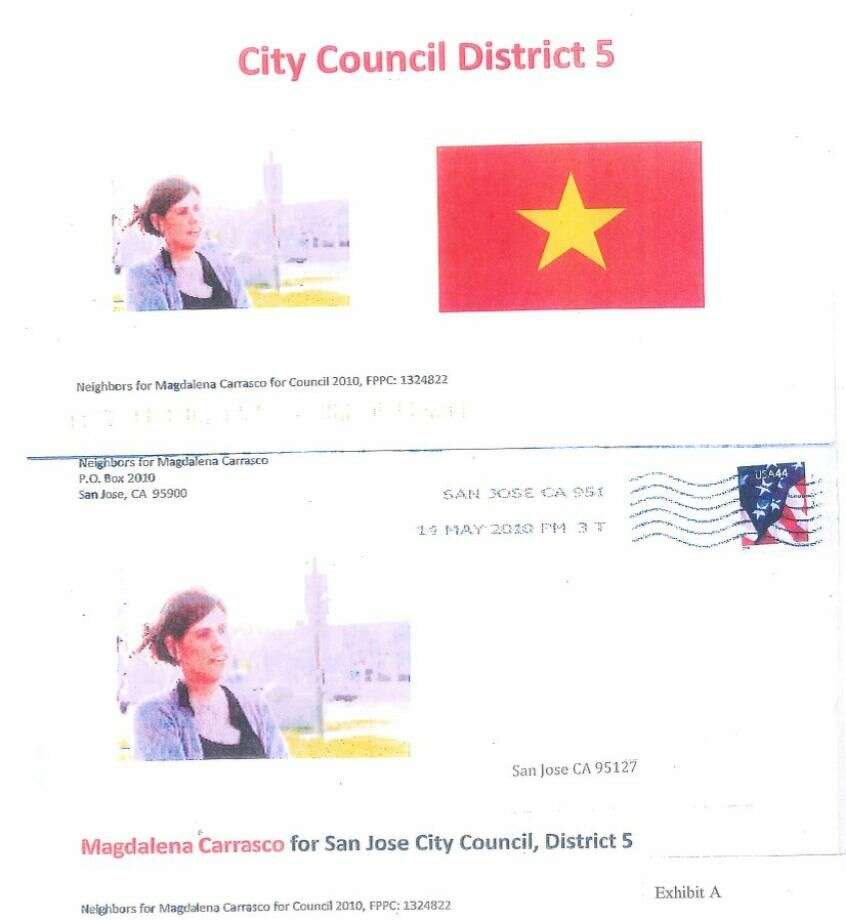 Former Santa Clara County Supervisor George Shirakawa was behind this bogus campaign mailer, prosecutors said. Photo: Santa Clara County DA / ONLINE_YES