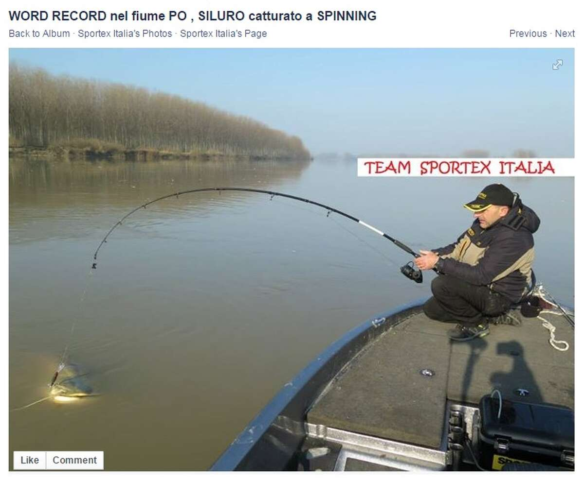 Dino Ferrari caught a giant 280-pound big wels catfish in the Po River.