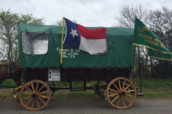 Riding clubs often color-coordinate their wagons and outfits.