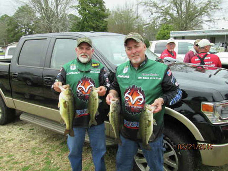 Robert Newlan and Tommy Phillips with their first place , 4 fish stringer. courtesy photo