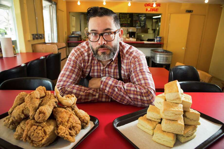 Joshua Martinez poses for a portrait at The Chicken Ranch restaurant in the 6500 block of North Main on Thursday, Feb. 19, 2015, in Houston. ( Brett Coomer / Houston Chronicle ) Photo: Brett Coomer, Staff / © 2015 Houston Chronicle