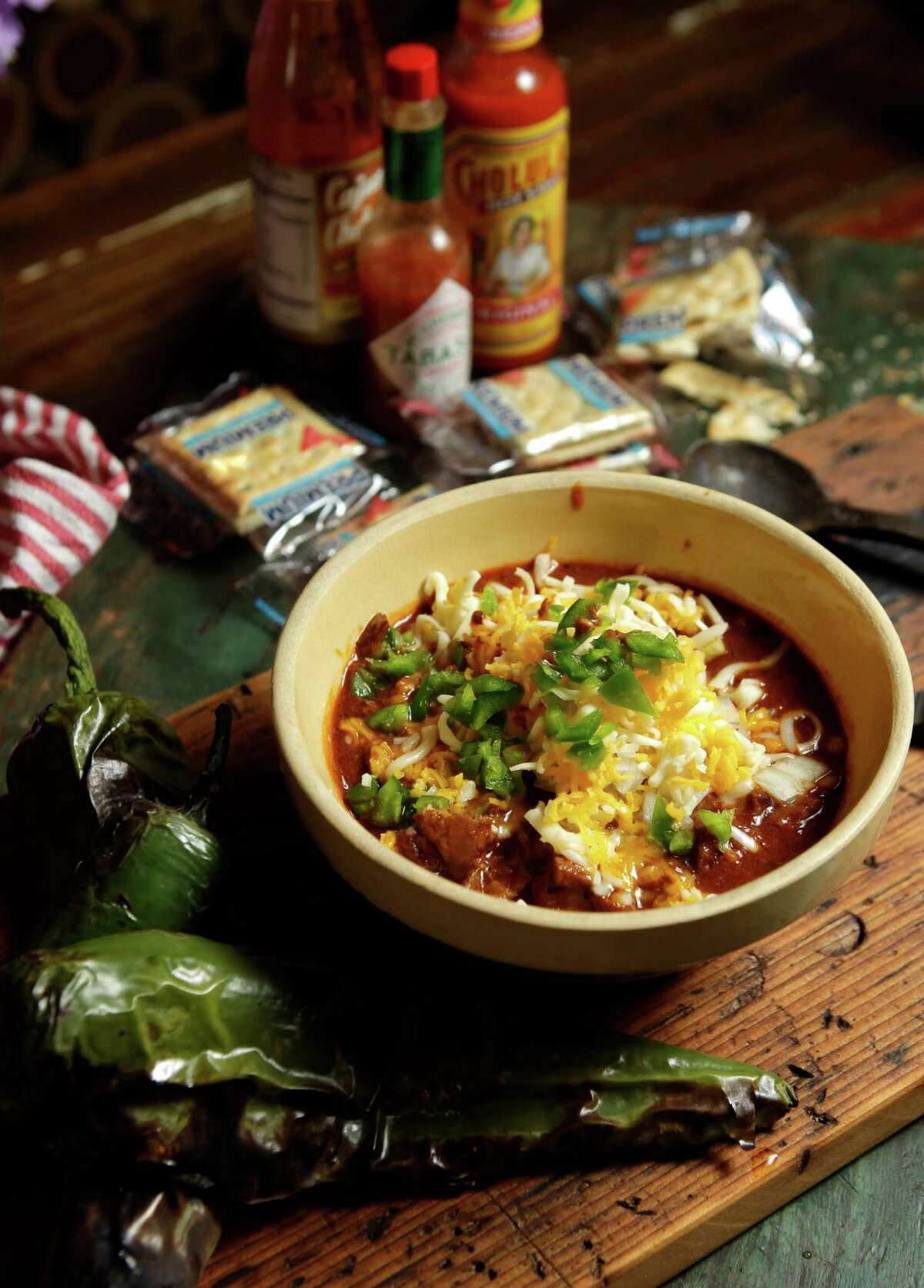 Hill Country Venison Chili Order it at:Goode's Armadillo Palace, 5015 Kirby What:Hand-cut, Texas-sourced venison topped with cheese, onion, jalapeños and Fritos. It's one of the signature dishes at this Houston stalwart.