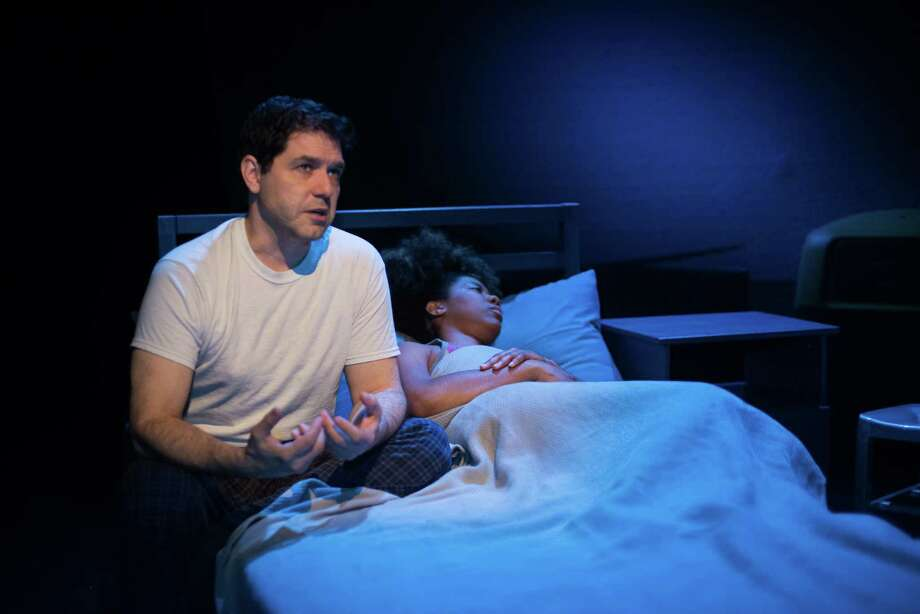 """John Gremillion and Candice D'Meza Perform in """"The Blackest Shore"""" at Catastrophic Theatre in Houston TX. The Blackest Shore runs from February 13th through March 7th Photo: Jamaal Ellis, Freelance / ©2015 Houston Chronicle"""