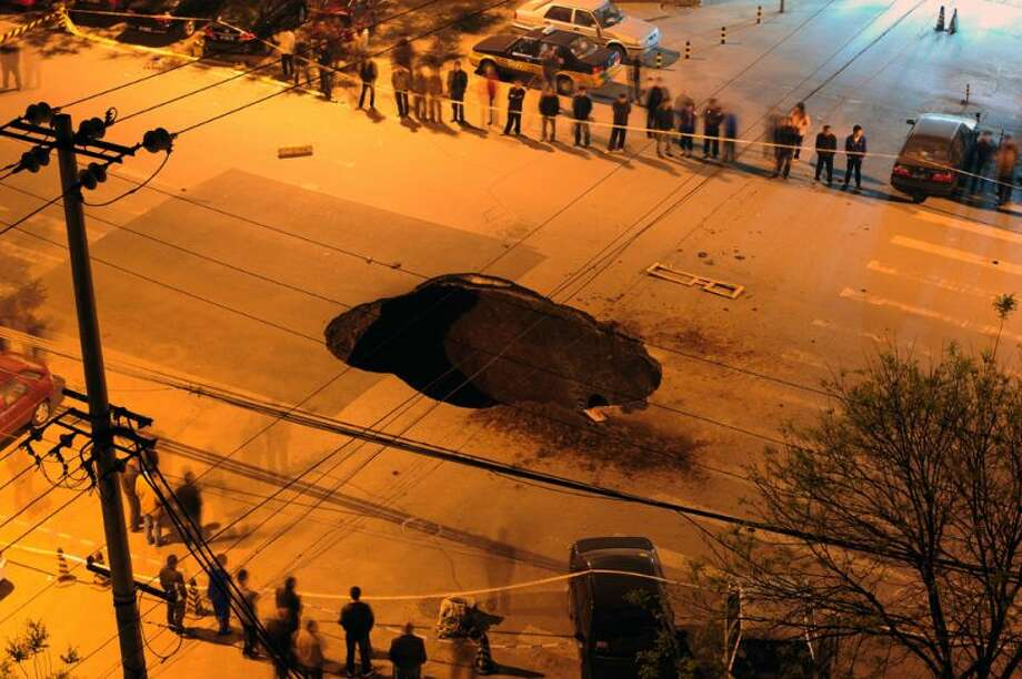 Researchers Huge Growing Sinkholes Could Be