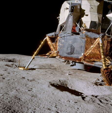 Apollo 14, the third successful lunar-landing mission. Astronauts Edgar Mitchell and Alan Shepard became the fifth and sixth men to walk on the lunar surface, and Shepard the first to hit a golf ball on the moon. Photo: Science & Society Picture Librar, SSPL Via Getty Images / SSPL/NASA