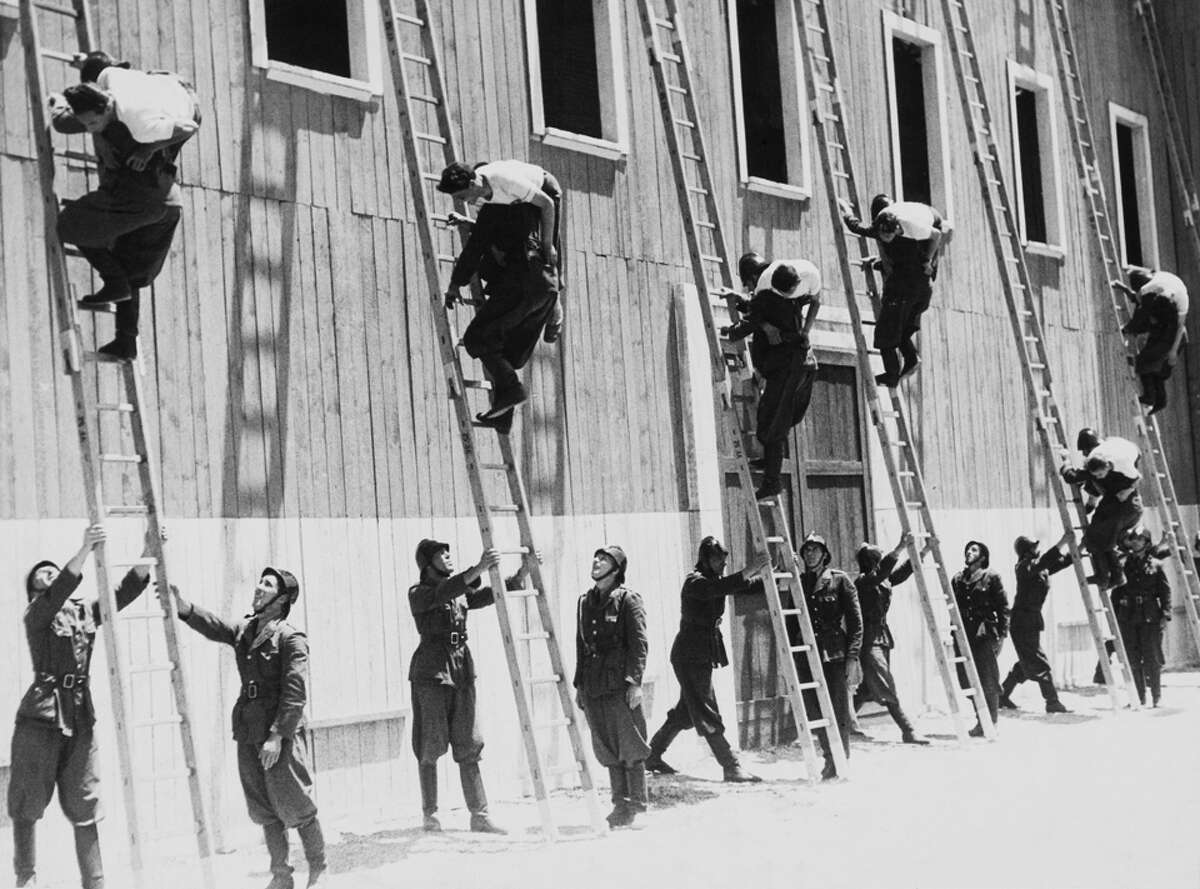 Firefighters Training On July 1939 In Rome.