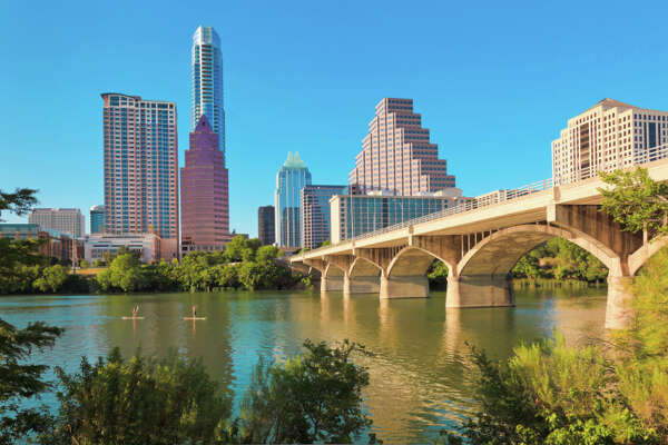 No. 4 (Tie): Austin, Texas In this MSA, 10 percent of young adults between the ages of 25 and 29 lived with their parents between 2007 and 2009. Austin skyline 2011, Congress Avenue Bridge, Standup Paddleboarding