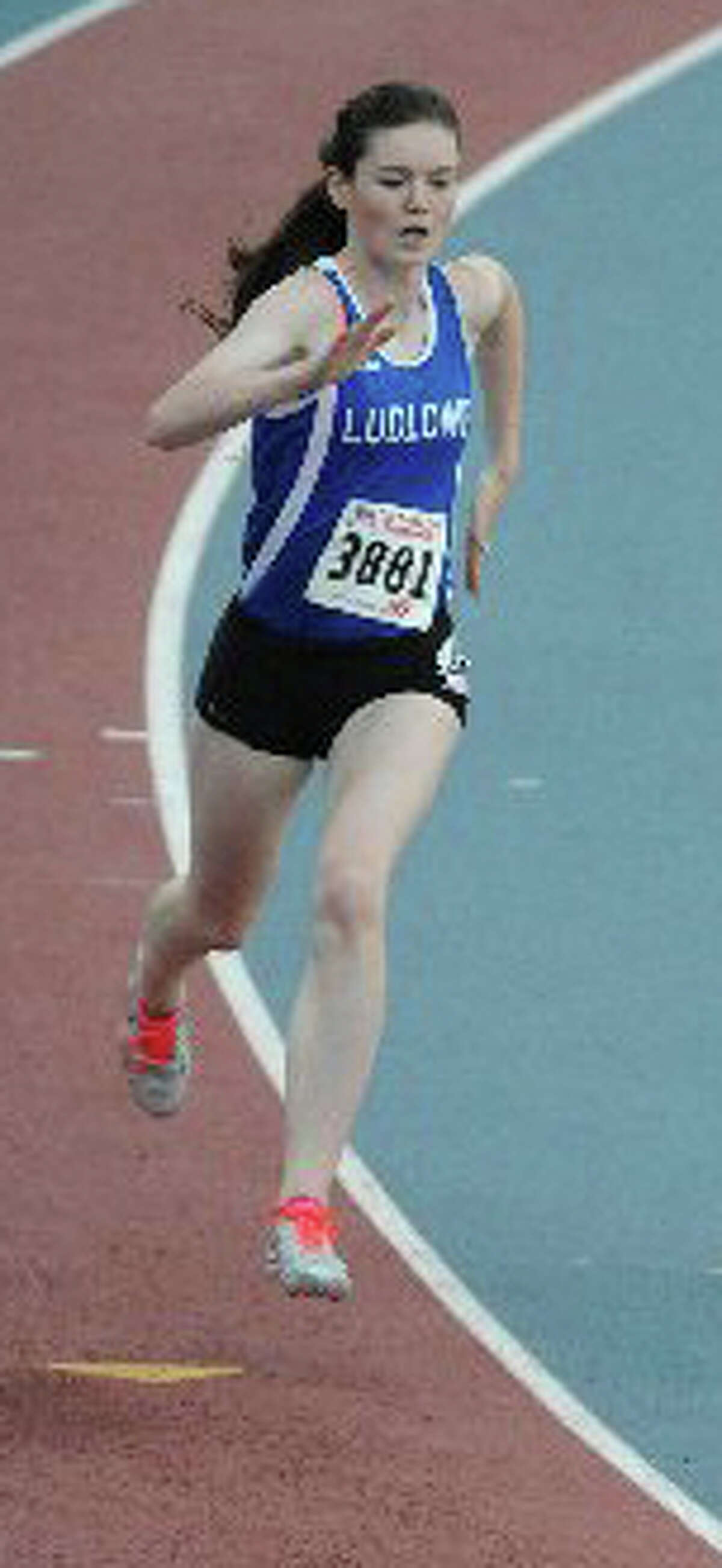Ludlowe's Emma Koether won the 300-meter run in the Class LL Championships, finishing with a time of 41.27 seconds and placed third in the State Open, timing in at 41.35 seconds.