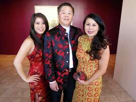 Marissa Seto (left) with parents, Symphony fundraiser co-chairs David and Sharon Seto.