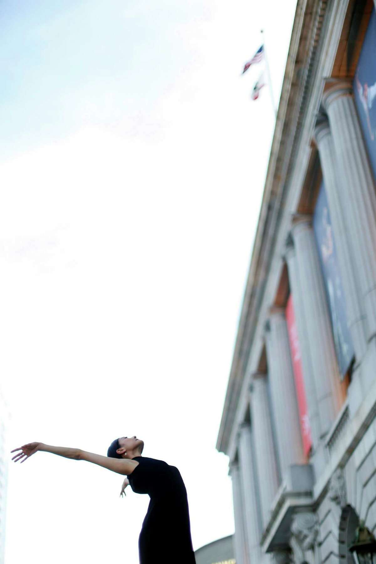 """""""I am happy to still dance a lot,"""" says Yuan Yuan Tan, here outside the Opera House. """"My body is still responsive."""""""