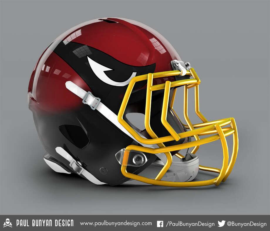 Arizona Cardinals concept helmet by Paul Bunyan Design Photo: Paul Bunyan Designs
