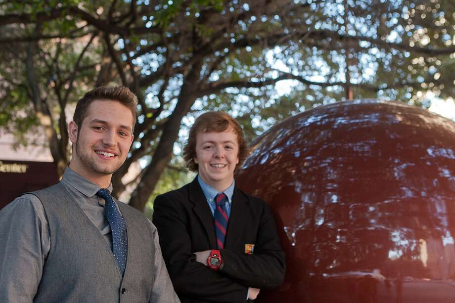 Cypress resident and senior voice major Tyler Resto, 18, and Charlie Reader, 17, are part of the Houston Grand Opera's High School Voice Studio. Photo: R. Clayton McKee, Freelance / © R. Clayton McKee