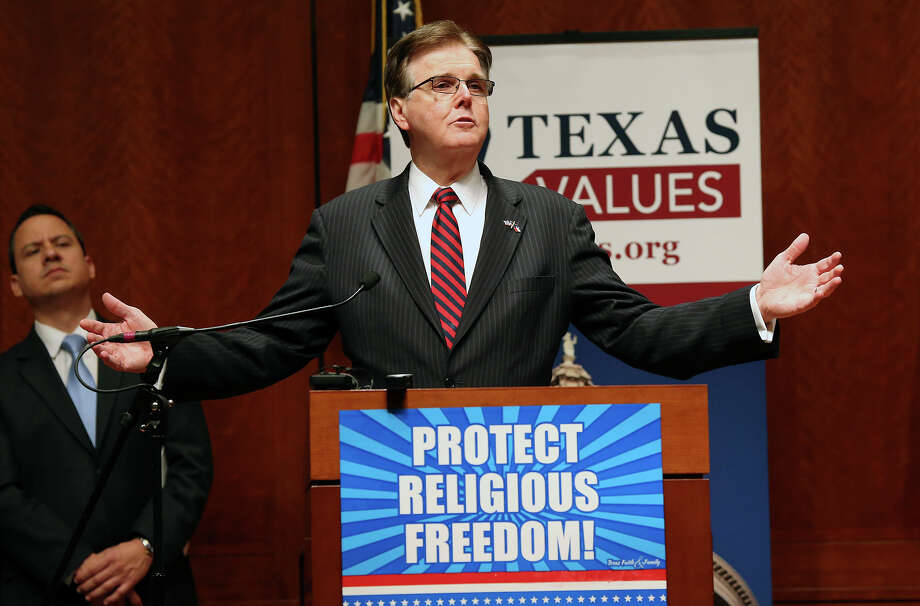 Lt. Governor Dan Patrick speaks at the Texas Faith and Family Day rally at the Capitol Auditoriaum on  February 24, 2015 Photo: Tom Reel, San Antonio Express-News