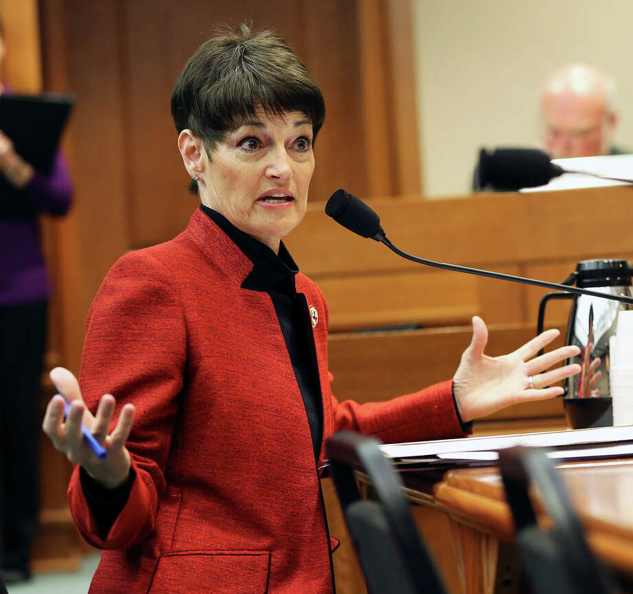 Senator Donna Campbell defends her bill, SB 191, before committee at the Capitol on  February 24, 2015 Photo: Tom Reel, San Antonio Express-News