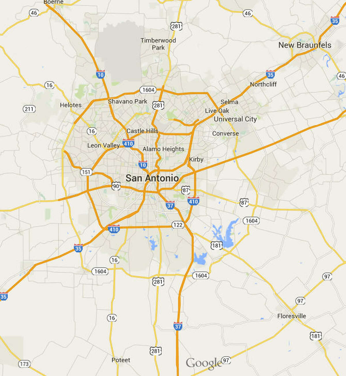 San Antonio Population: 1.4 million From Google Maps