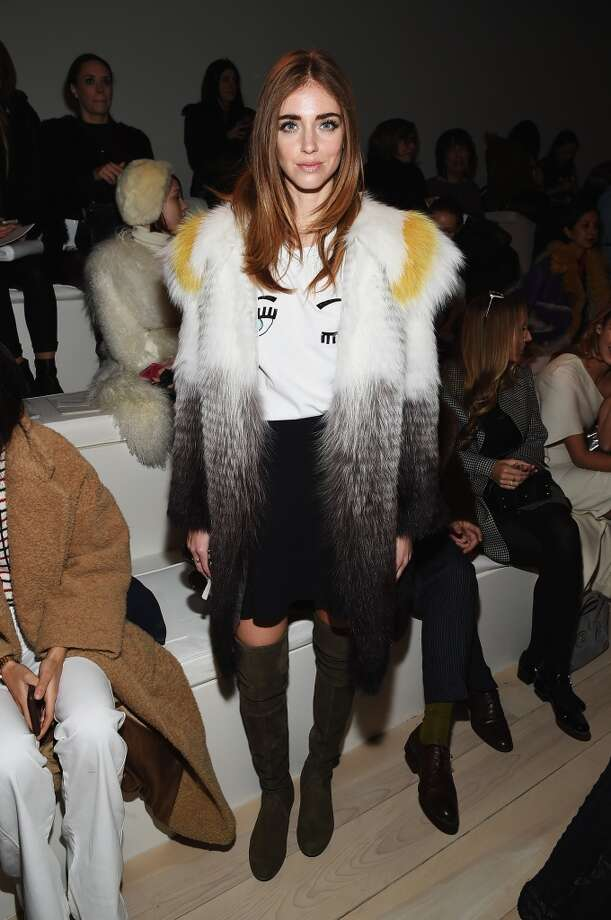 Blogger Chiara Ferragni attends the Ralph Lauren fashion show during Mercedes-Benz Fashion Week Fall 2015 at Skylight Clarkson SQ. on February 19, 2015 in New York City. Photo: Mike Coppola, Getty Images For Mercedes-Benz F