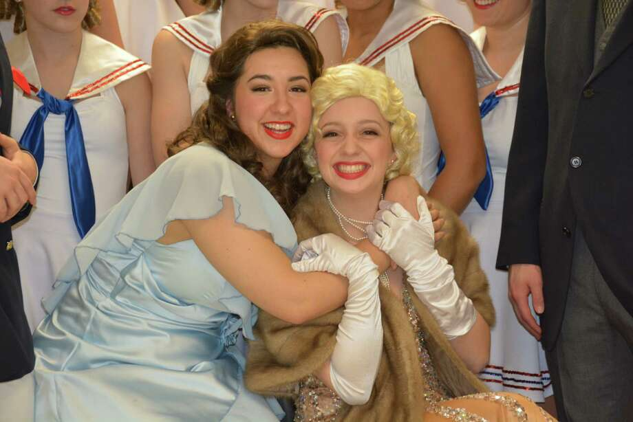 """Dani Echeverri, left, of Bellaire plays Hope and Maddie McAllister of Missouri City plays Reno Sweeney in """"Anything Goes"""" at St. Agnes Academy. Photo: Stephanie Crowl/St. Agnes Academy"""
