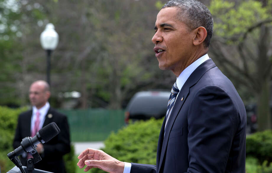 President Obama followed through on a pledge he made in a Rose Garden speech in April to reject GOP pipeline efforts. Photo: Jacquelyn Martin / Associated Press / AP
