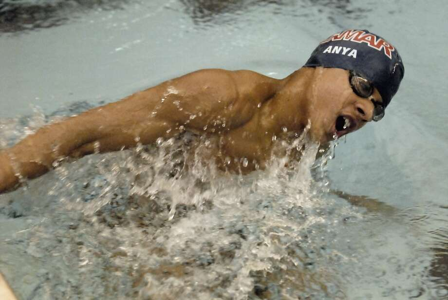 Lamar's Safa Anya finished out his high school career with a state championship in the 100-yard breaststroke. Photo: Tony Bullard, Freelance Photographer / Tony Bullard & the Houston Chronicle
