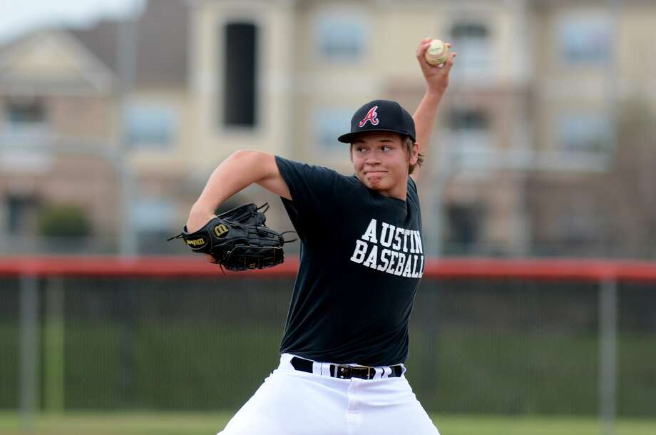 Fort Bend Austin sophomore pitcher Connor Lepore worked against Langham Creek during their scrimmage earlier this month. Photo: Jerry Baker, Freelance