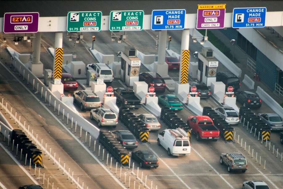 Harris County Toll Road officials hope to reduce use of cash-paying lanes by offering toll tags at retail outlets that can be loaded with cash purchases.