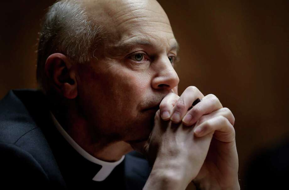 """San Francisco Archbishop Salvatore Cordileone during a meeting with the Chronicle's editorial board on Tues. February 24, 2015. Cordileone is a leading conservative """"culture warrior"""" among the nation's Catholic Church leaders. Photo: Michael Macor / The Chronicle / ONLINE_YES"""