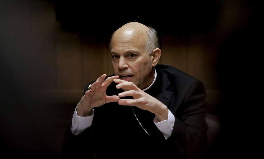 "San Francisco Archbishop Salvatore Cordileone meets with the Chronicle's editorial board on Tues. February 24, 2015. Cordileone is a leading conservative ""culture warrior"" among the nation's Catholic Church leaders. Photo: Michael Macor, The Chronicle"
