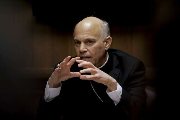 "San Francisco Archbishop Salvatore Cordileone meets with the Chronicle's editorial board on Tues. February 24, 2015. Cordileone is a leading conservative ""culture warrior"" among the nation's Catholic Church leaders."