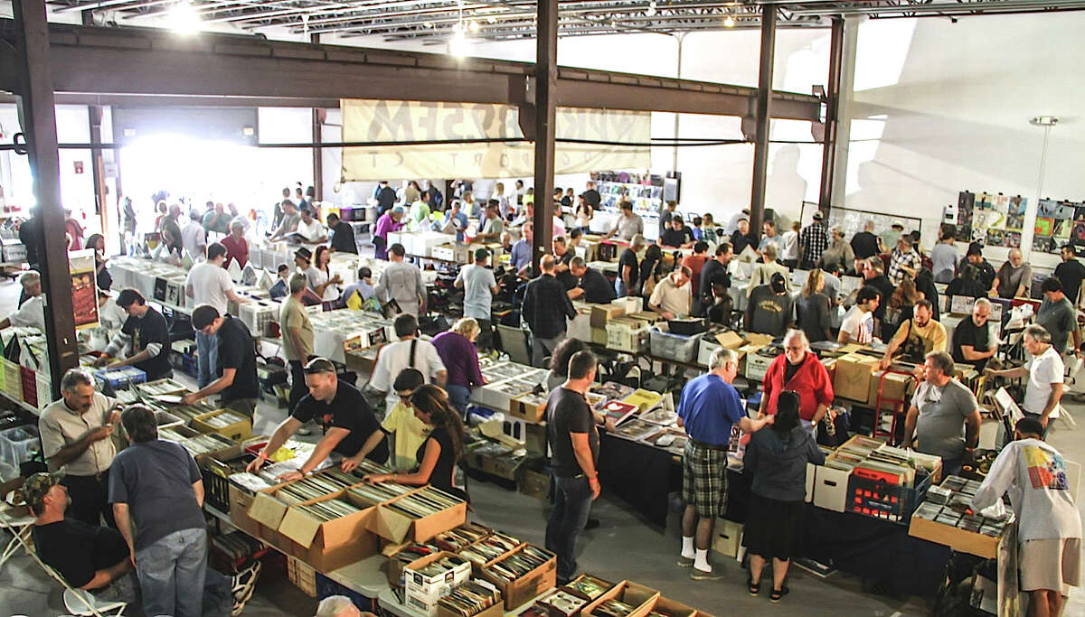WPKN's 2015 Music Mash record fair will take place Saturday, March 7, at Read's Artspace in Bridgeport, featuring 50 dealers. Above is a photo from the last event, in 2013, in Fairfield.