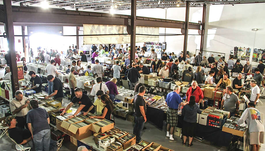 WPKN's 2015 Music Mash record fair will take place Saturday, March 7, at Read's Artspace in Bridgeport, featuring 50 dealers. Above is a photo from the last event, in 2013, in Fairfield. Photo: Contributed Photo / Connecticut Post Contributed
