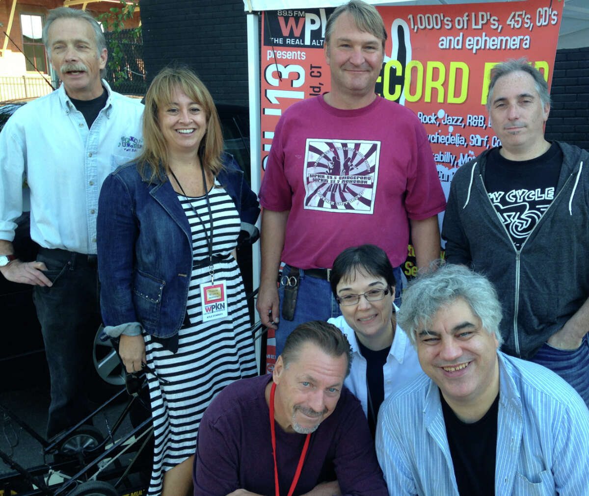 WPKN's 2015 Music Mash record fair will take place Saturday, March 7, at Read's Artspace in Bridgeport, featuring 50 dealers. Above is a photo of volunteers from the last event, in 2013, in Fairfield.