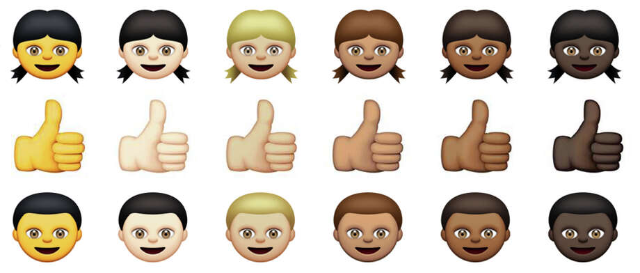 These are the emoji, graphics that punctuate online writing and texts. Photo: Associated Press / Apple
